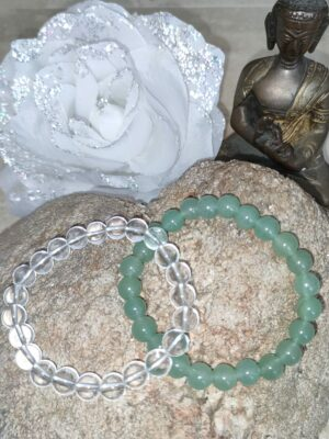 Bracelet avanturine et cristal de Roche